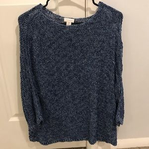 {Chico's} long see-through sweater